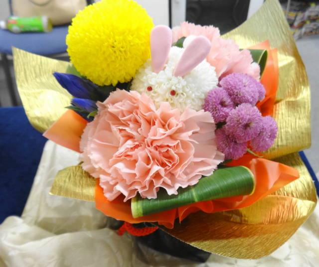 日比谷花壇敬老の日そのまま飾れるブーケ「お月様とうさぎ」